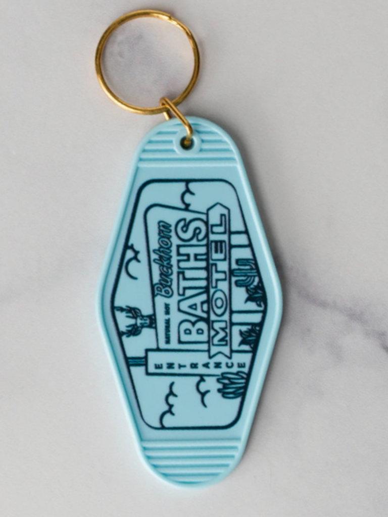 Diving Lady Mesa Motel Key Chain