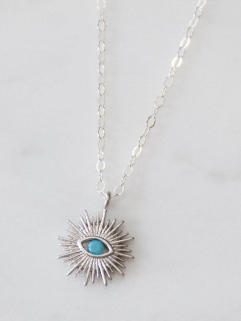 Evil Eye Sunburst Necklace
