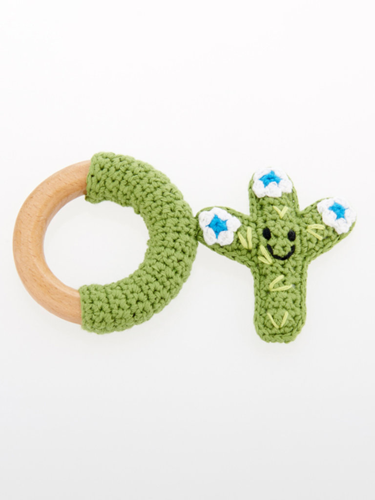 Wooden Cactus Teething Ring