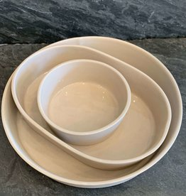 Andrew Molleur Andrew Molleur Tray Set Taupe S/3