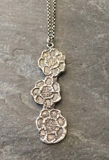 Carolyn Simon Design Carolyn Simon Design Sterling Silver Triple Flower Pendant