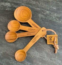 Be Home Teak Measuring Spoons S/4