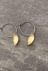 Hilary Finck Jewelry Hilary Finck Leaf Earring Mini 18K Bimetal
