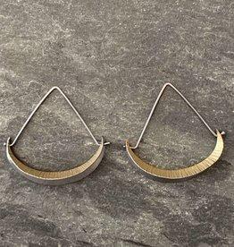 Hilary Finck Jewelry Hilary Finck Crescent Triangle Hoop Classic 18K Bimetal