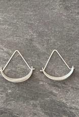 Hilary Finck Jewelry Hilary Finck Crescent Triangle Hoop Mini SS
