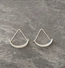 Hilary Finck Jewelry Hilary Finck Crescent Triangle Hoop Mini SS