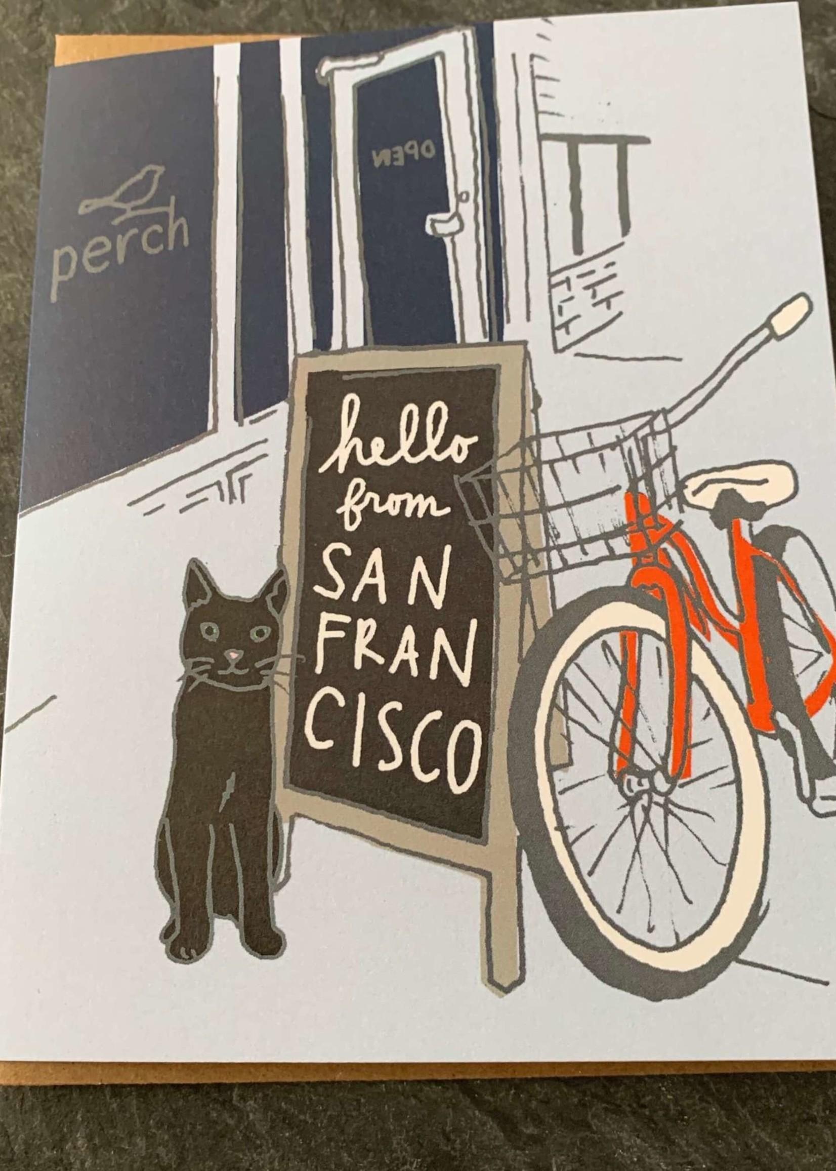 La Familia Green Perch Storefront Everyday Card