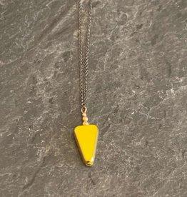 Jessica Davies Metalworks Jessica Davies Gold Deco Single Drop Pendant