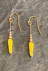 Jessica Davies Metalworks Jessica Davies Gold Deco Single Bead Drop