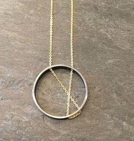 Vanessa Gade Vanessa Gade Inner Circle necklace OX Silver & Gold