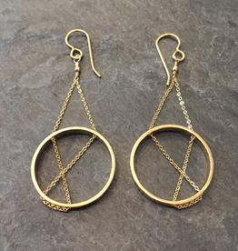 Vanessa Gade Vanessa Gade Inner Circle Earrings Gold