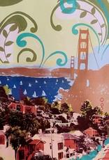 Hilary Williams Mounted Digital Print on Wood - View of the Bridge