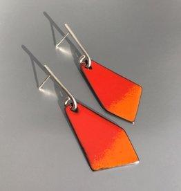 Jenny Windler Jewelry Jenny Windler Kite Earrings Tangerine