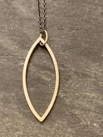 Jenny Windler Jewelry Jenny Windler Hammered Marque Necklace
