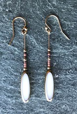 Jessica Davies Metalworks Jessica Davies Nefertiti Deco Drop Earrings White