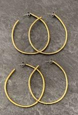 Gretchen Walker Jewelry Gretchen Walker Hammered Brass Hoops