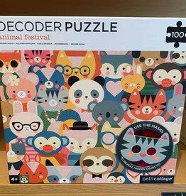 PetitCollage Petit Collage Decoder Puzzle - Animal Festival