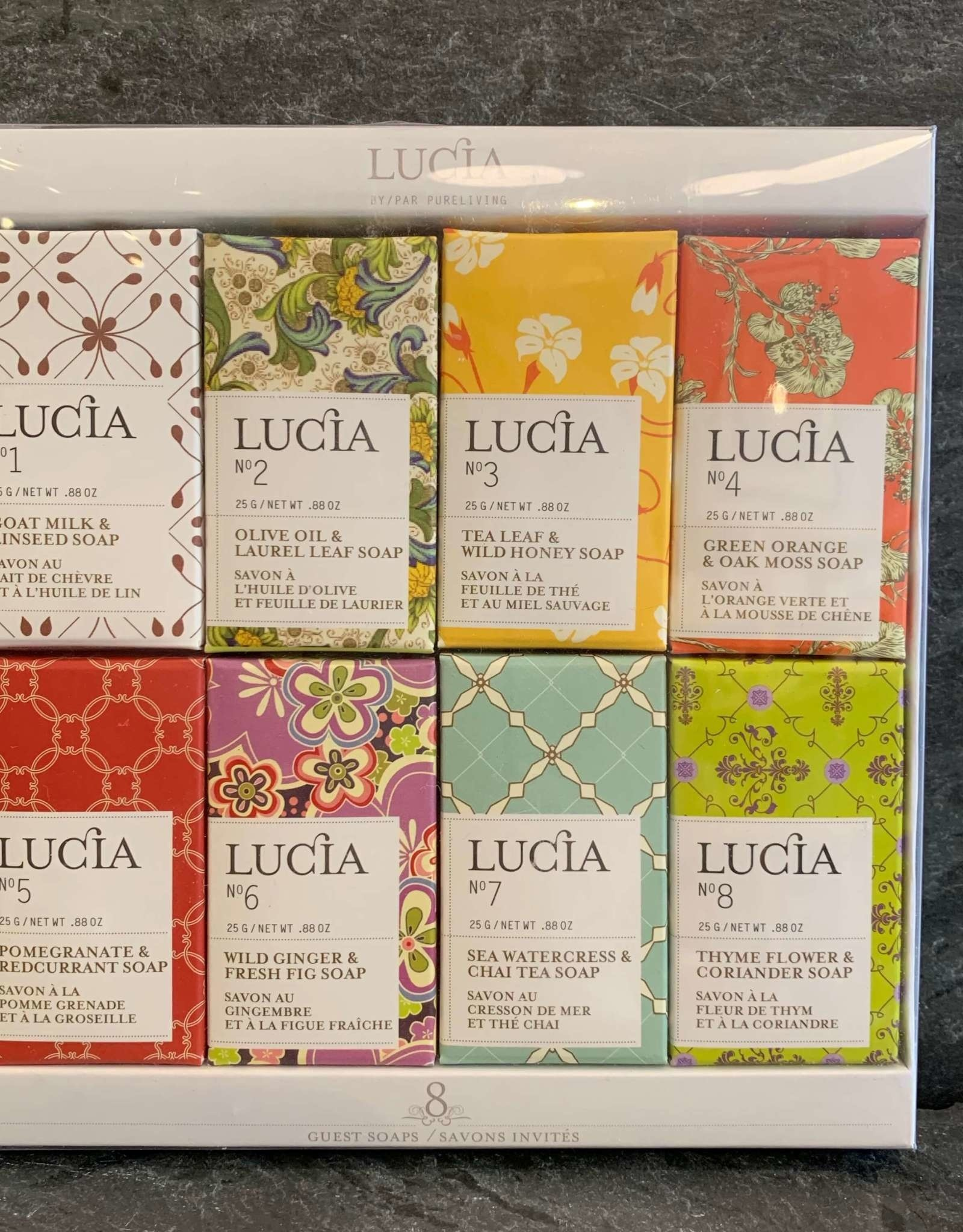 Lucia Lucia 8 Assorted Mini Guest Soap Bars