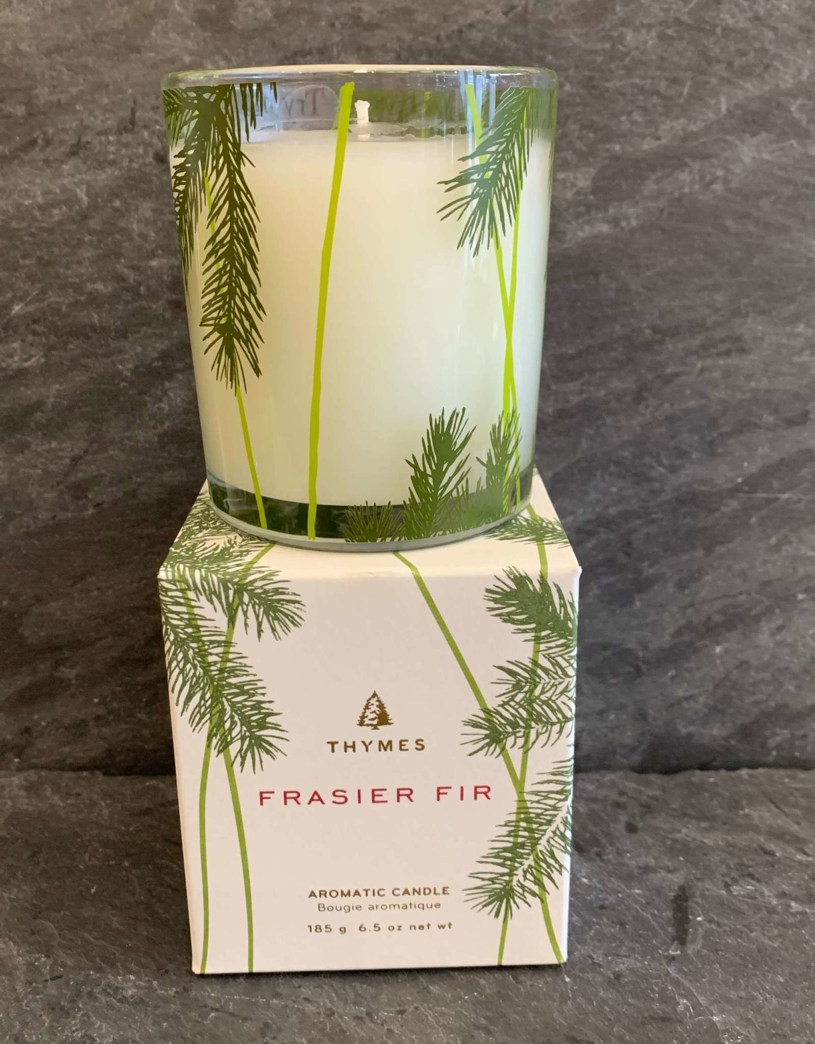 Thymes Frasier Fir Pine Needle Design Poured Candle