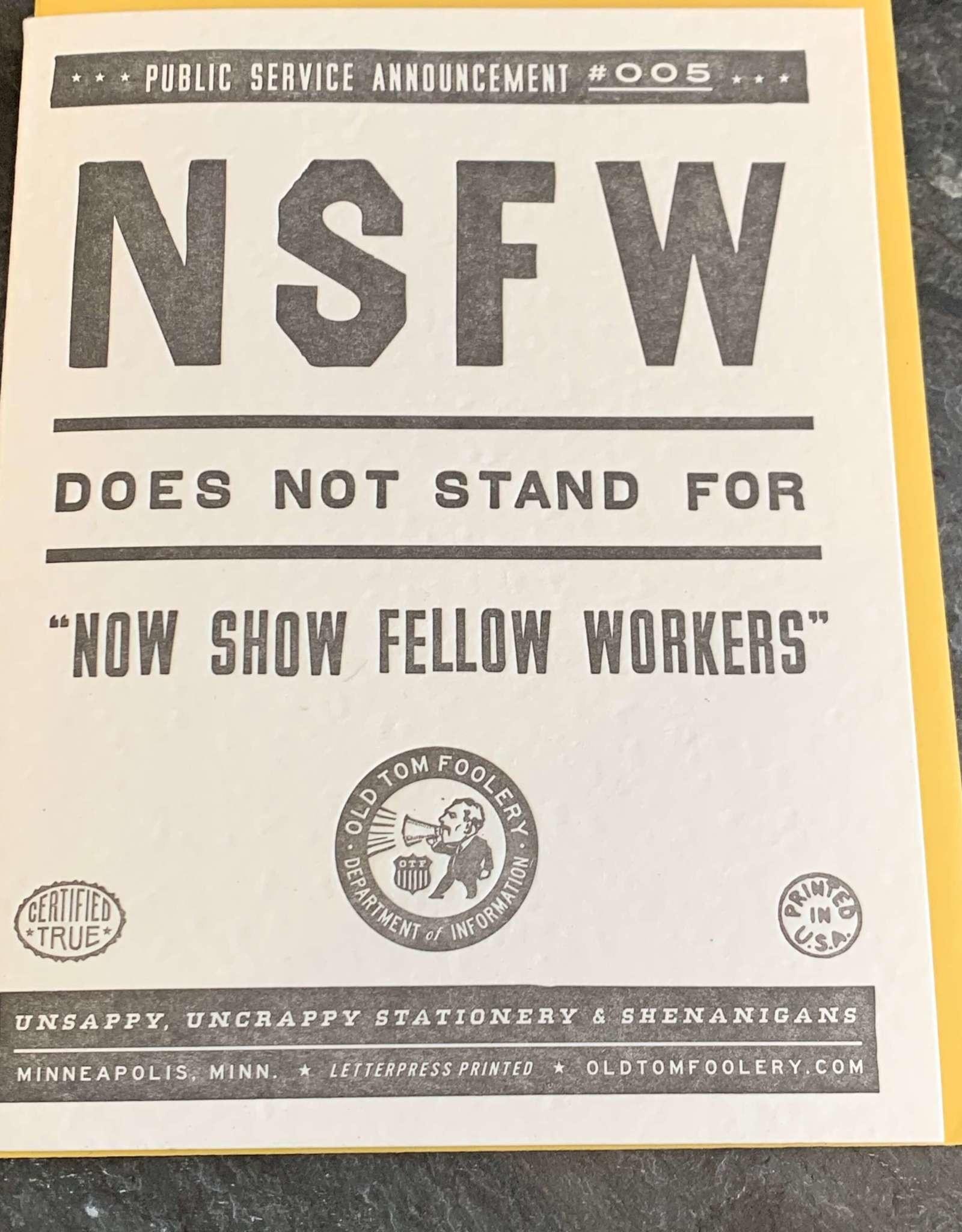Old Tom Foolery NSFW Humorous Card