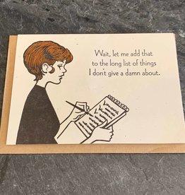 Lady Pilot Letterpress Humorous Card Lady Pilot Letterpress