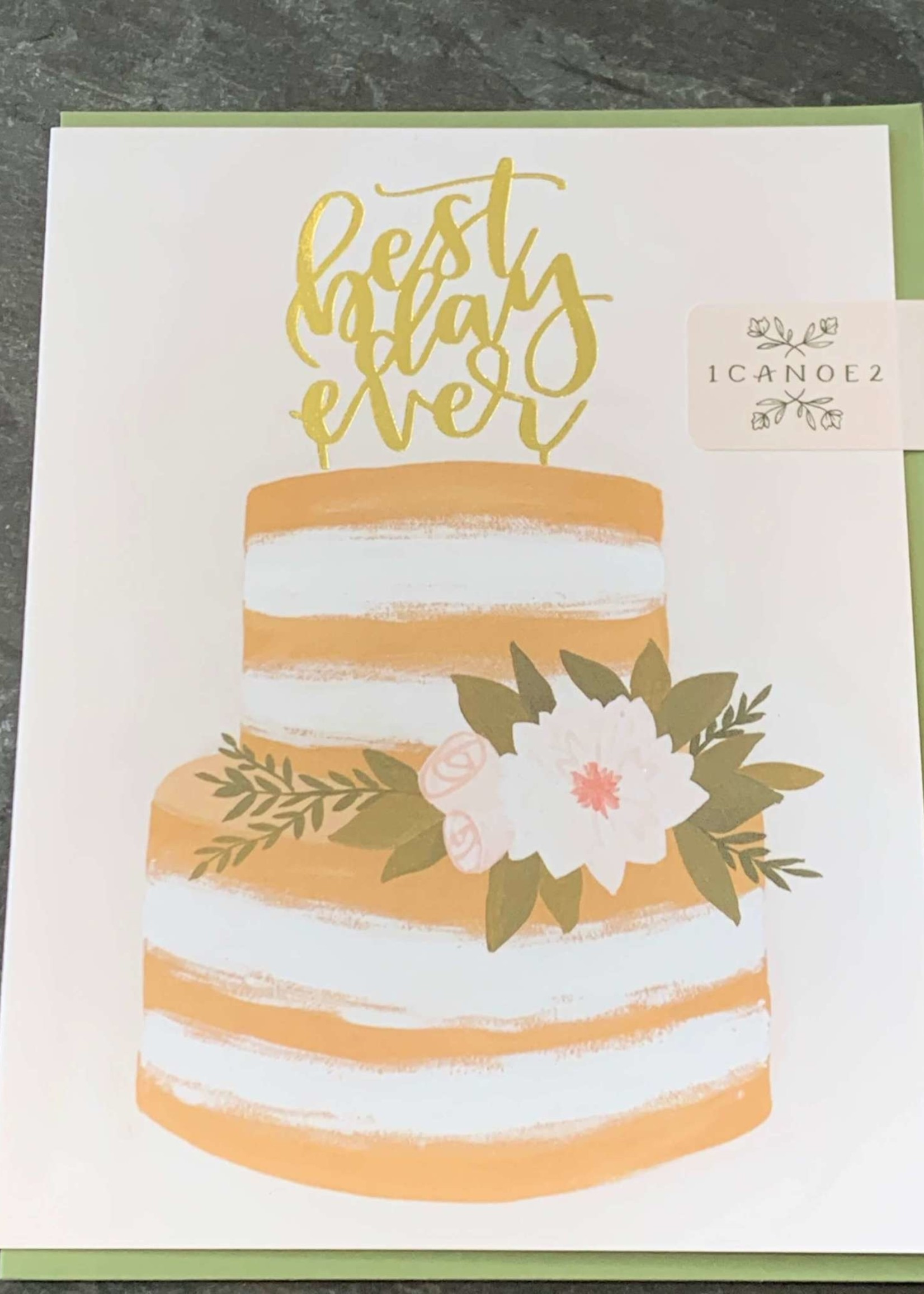 One Canoe Two Best Day Ever Wedding Card