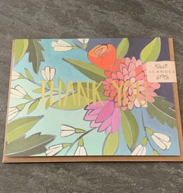 One Canoe Two One Canoe Two - Floral Foil Thank You Card