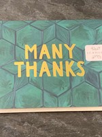 One Canoe Two One Canoe Two - Green Tile Thank You Card
