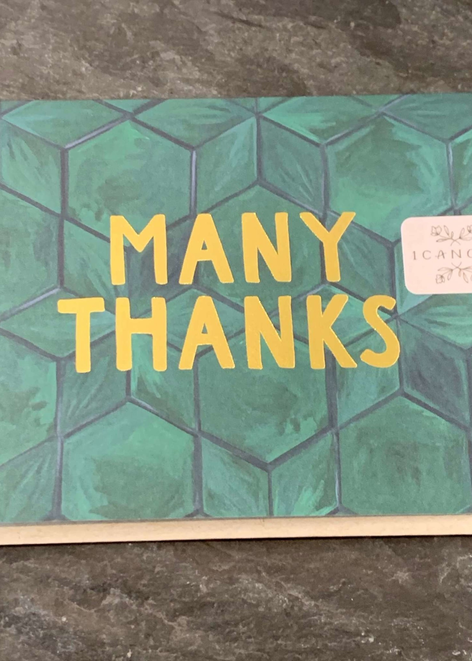 One Canoe Two Green Tile Thank You Card