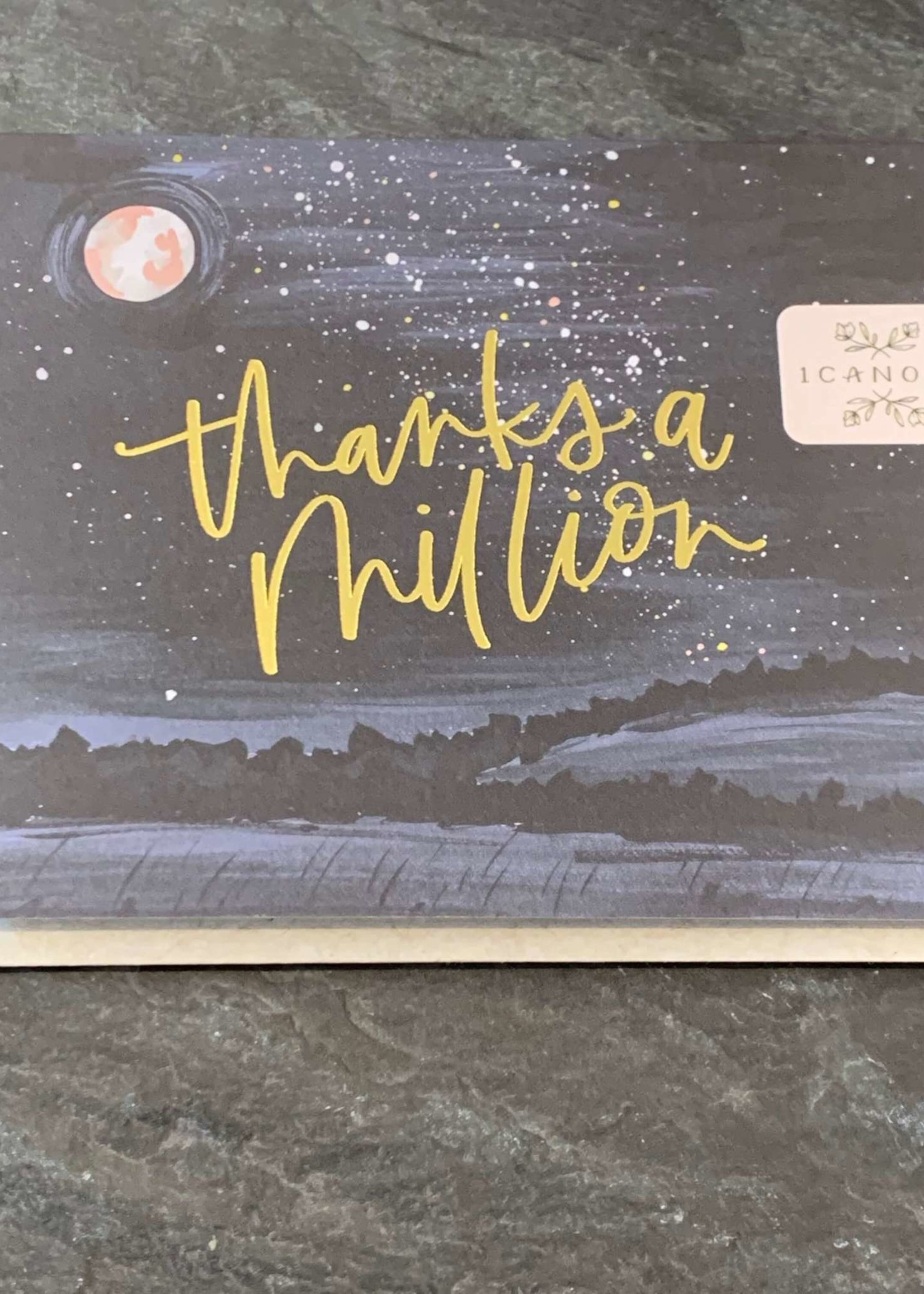 One Canoe Two Starry Night Thank You Card