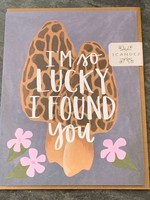 One Canoe Two One Canoe Two - Lucky Mushrooms Love Card