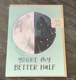 One Canoe Two One Canoe Two - Better Half Moon Love Card