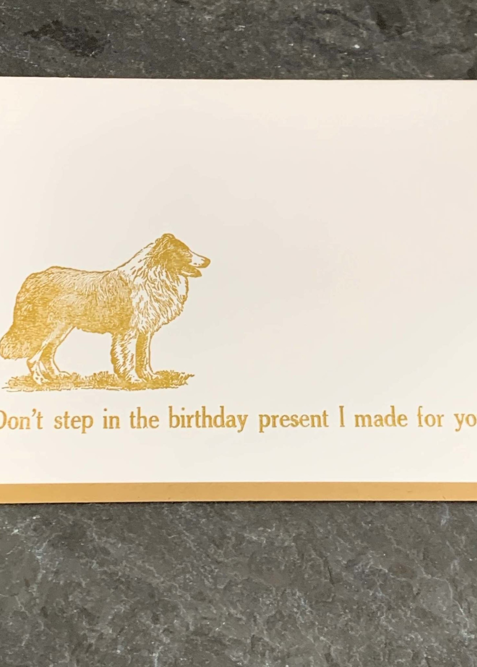 Zeichen Press Don't Step In It Birthday Card