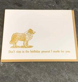 Zeichen Press Zeichen Press - Don't Step In It Birthday Card