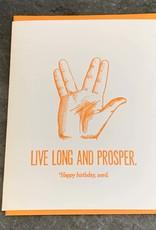 Zeichen Press Live Long Birthday Card