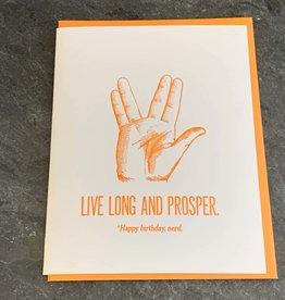Zeichen Press Zeichen Press - Live Long Birthday Card