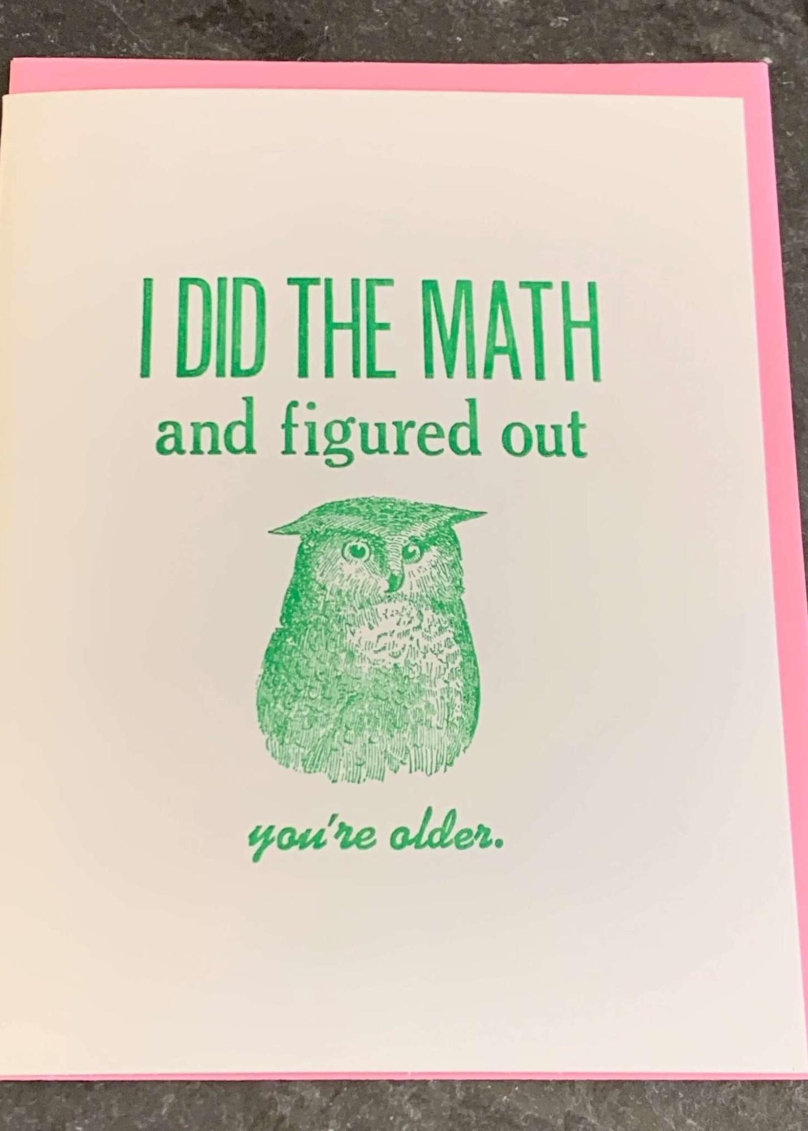 Zeichen Press I Did The Math Birthday Card