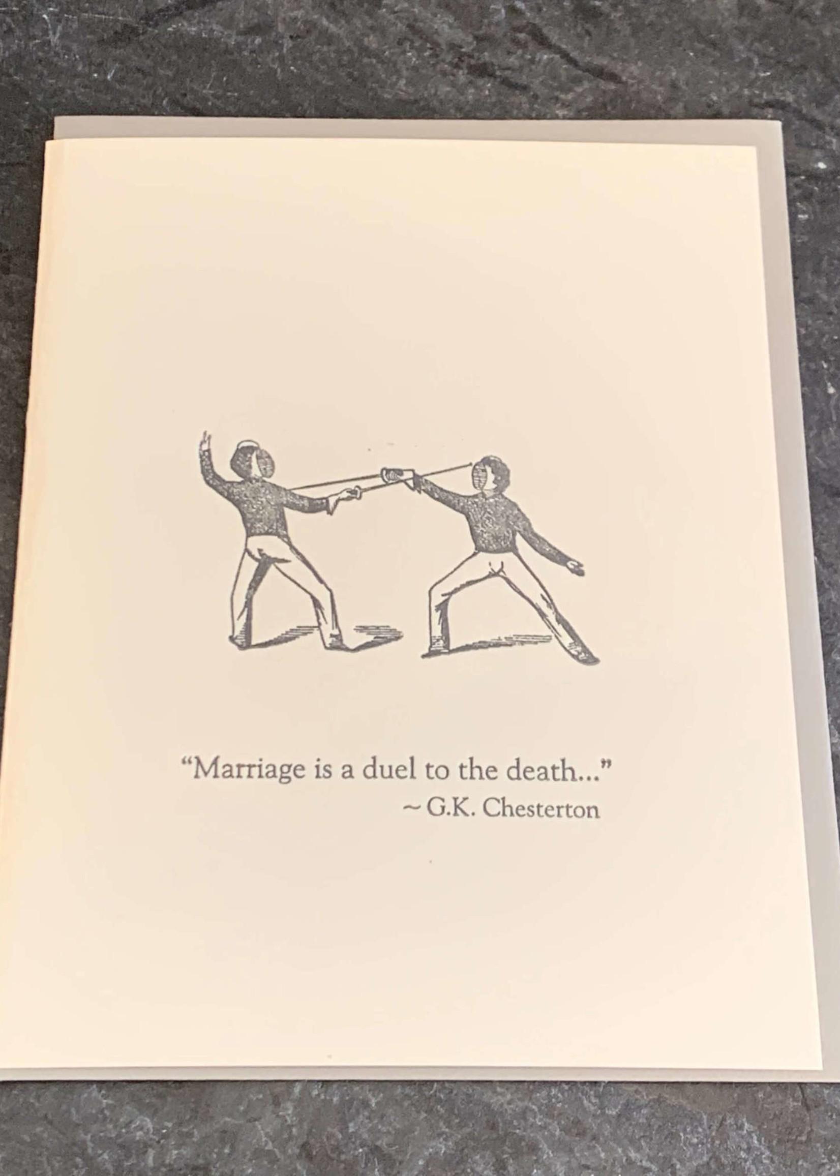 Zeichen Press Marriage Duel Anniversary Card