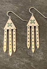 Hilary Finck Jewelry Hilary Finck Triangel Chandeliers Blue & Green