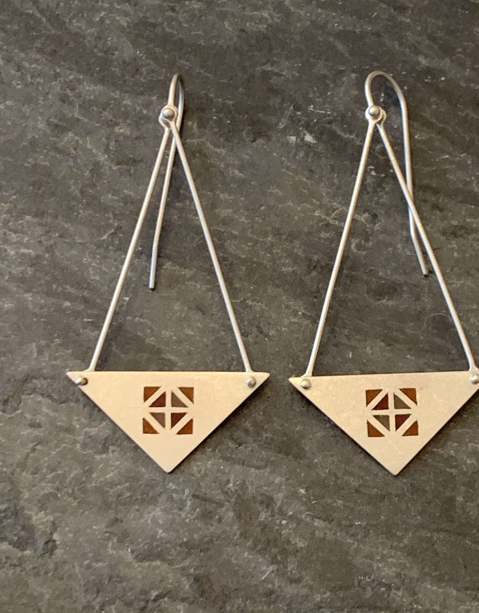 Hilary Finck Jewelry Hilary Finck Triangles Red, Orange & Pink