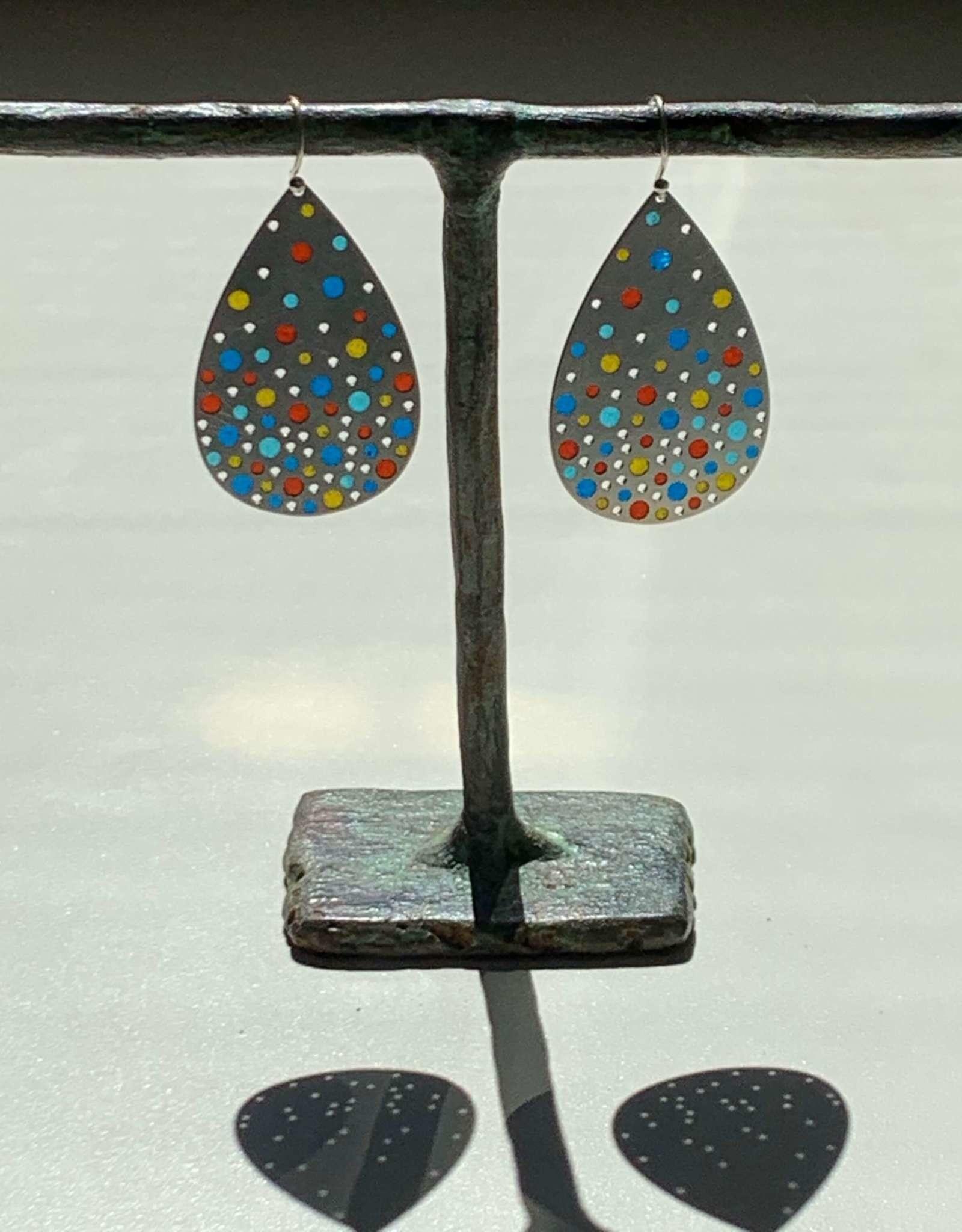 Hilary Finck Jewelry Hilary Finck Teardrops: Red, Blue & Yellow