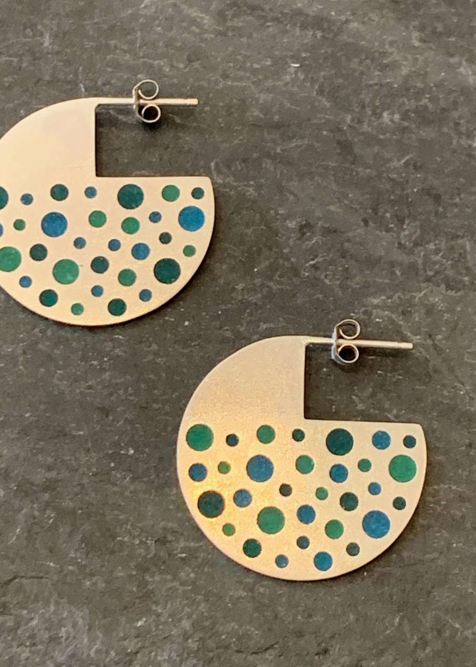 Hilary Finck Jewelry Hilary Finck 75s Green & Blue