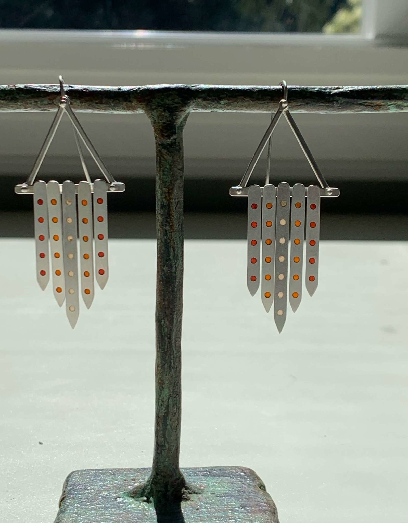 Hilary Finck Jewelry Hilary Finck Chandeliers Red, Orange & Pink