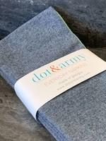 Dot and Amy Dot and Amy  Denim Chambray Cloth Napkins S/8