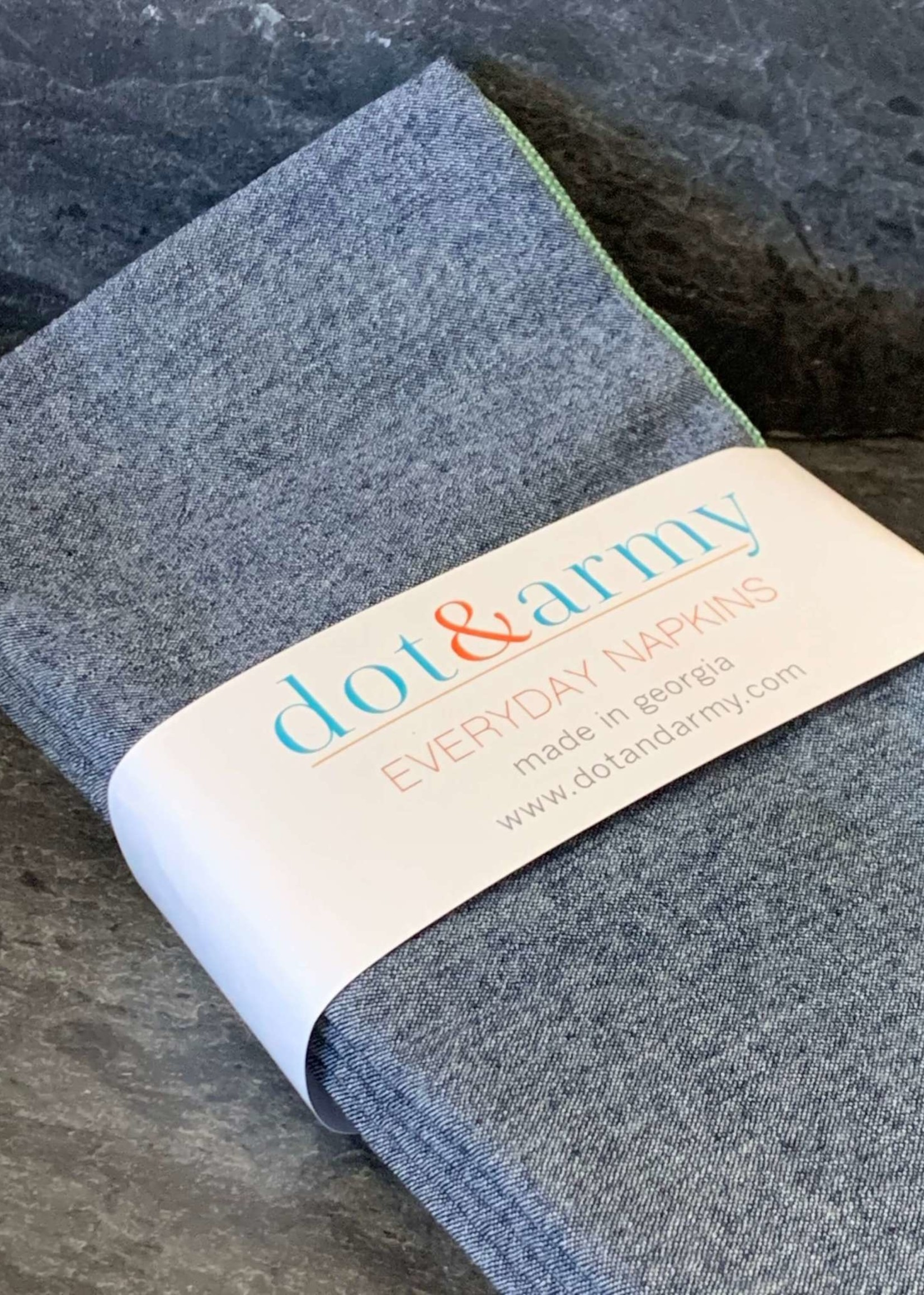Dot and Amy Dot and Amy  Denim Chambray Cloth Napkins S/8