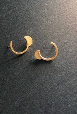 Denise Heffernan Denise Heffernan Curve Post Earring 24k Gold Plate Vermiel