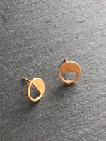 Denise Heffernan Denise Heffernan - Half Loop Earring 24k Gold Plate Vermiel