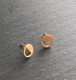 Denise Heffernan Denise Heffernan Half Loop Earring 24k Gold Plate Vermiel