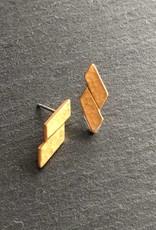 Denise Heffernan Denise Heffernan Paralell Earring 24k Gold Plate Vermiel