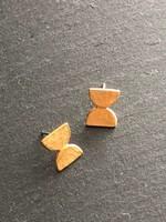 Denise Heffernan Denise Heffernan - Parallel Post Earring 24k Gold Plate Vermiel